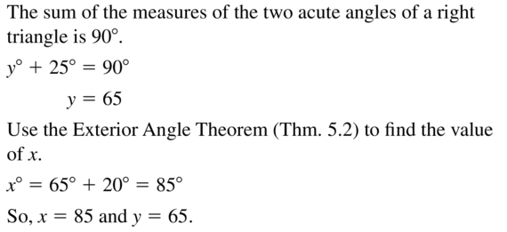 Big Ideas Math Answer Key Geometry Chapter 5 Congruent Triangles 5.1 a 51