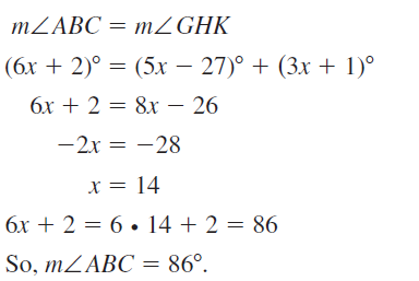 Big Ideas Math Answer Key Geometry Chapter 5 Congruent Triangles 5.1 a 55