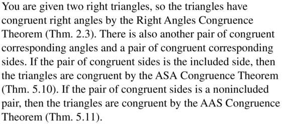 Big Ideas Math Answer Key Geometry Chapter 5 Congruent Triangles 5.6 a 23