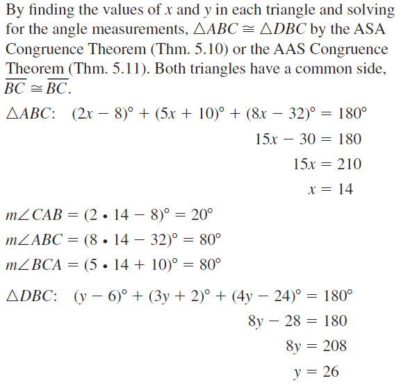 Big Ideas Math Answer Key Geometry Chapter 5 Congruent Triangles 5.6 a 25.1