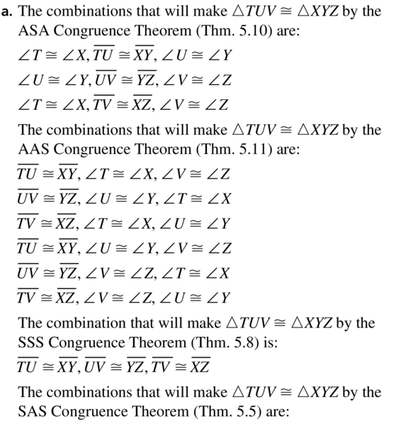 Big Ideas Math Answer Key Geometry Chapter 5 Congruent Triangles 5.6 a 33.1