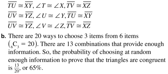 Big Ideas Math Answer Key Geometry Chapter 5 Congruent Triangles 5.6 a 33.2