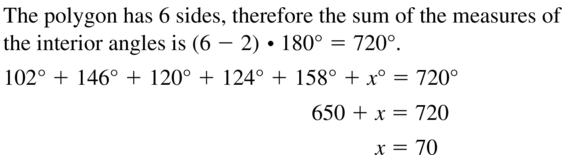 Big Ideas Math Answer Key Geometry Chapter 7 Quadrilaterals and Other Polygons 7.1 a 15