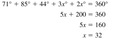 Big Ideas Math Answer Key Geometry Chapter 7 Quadrilaterals and Other Polygons 7.1 a 25