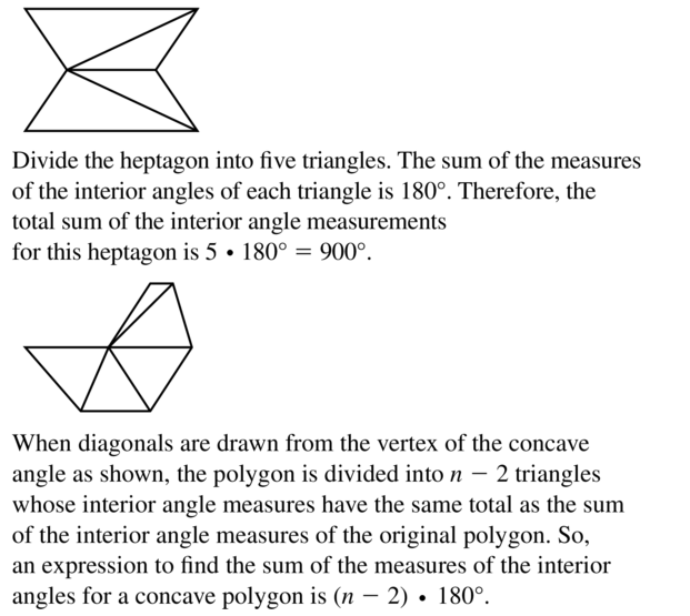 Big Ideas Math Answer Key Geometry Chapter 7 Quadrilaterals and Other Polygons 7.1 a 47.2