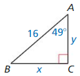 Big Ideas Math Answer Key Geometry Chapter 9 Right Triangles and Trigonometry 163
