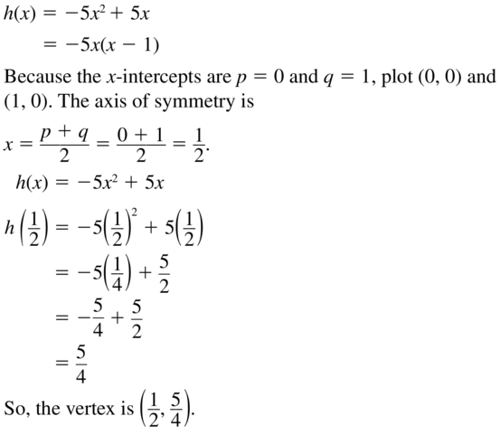 Big Ideas Math Answers Algebra 1 Chapter 8 Graphing Quadratic Functions 8.5 a 15.1