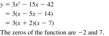 Big Ideas Math Answers Algebra 1 Chapter 8 Graphing Quadratic Functions 8.5 a 25