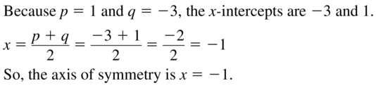 Big Ideas Math Answers Algebra 1 Chapter 8 Graphing Quadratic Functions 8.5 a 3