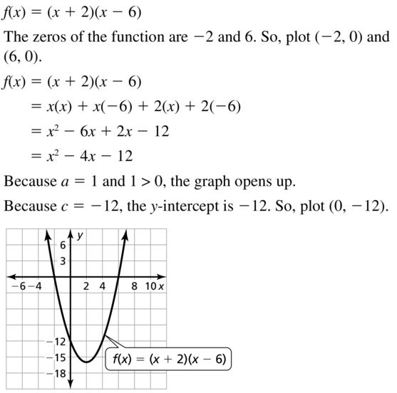 Big Ideas Math Answers Algebra 1 Chapter 8 Graphing Quadratic Functions 8.5 a 37