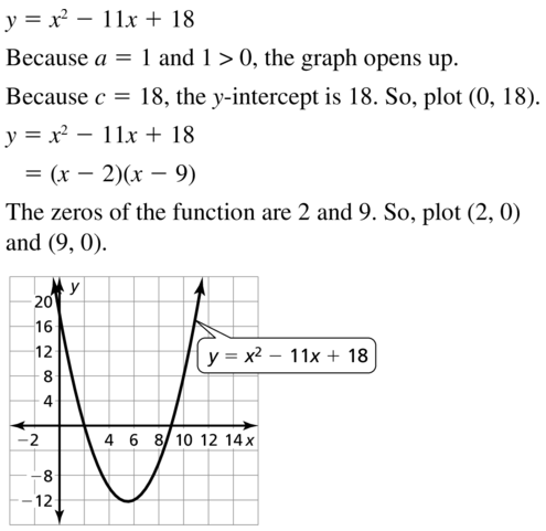 Big Ideas Math Answers Algebra 1 Chapter 8 Graphing Quadratic Functions 8.5 a 39
