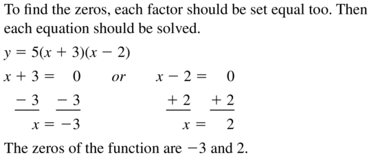 Big Ideas Math Answers Algebra 1 Chapter 8 Graphing Quadratic Functions 8.5 a 43