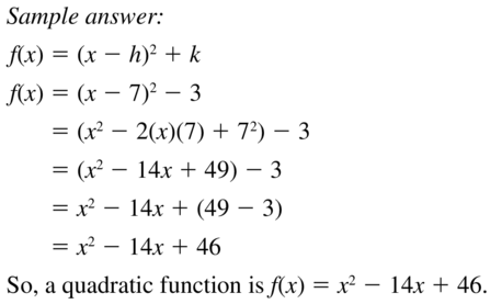 Big Ideas Math Answers Algebra 1 Chapter 8 Graphing Quadratic Functions 8.5 a 45