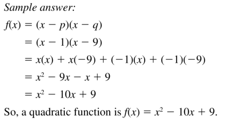 Big Ideas Math Answers Algebra 1 Chapter 8 Graphing Quadratic Functions 8.5 a 47