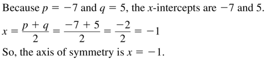 Big Ideas Math Answers Algebra 1 Chapter 8 Graphing Quadratic Functions 8.5 a 5