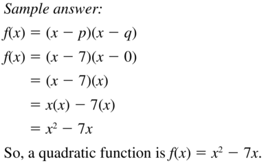 Big Ideas Math Answers Algebra 1 Chapter 8 Graphing Quadratic Functions 8.5 a 51