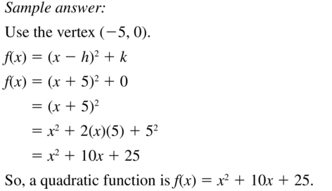 Big Ideas Math Answers Algebra 1 Chapter 8 Graphing Quadratic Functions 8.5 a 53