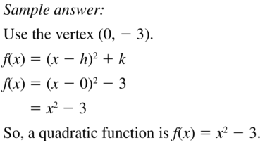 Big Ideas Math Answers Algebra 1 Chapter 8 Graphing Quadratic Functions 8.5 a 55