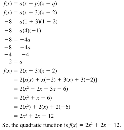 Big Ideas Math Answers Algebra 1 Chapter 8 Graphing Quadratic Functions 8.5 a 57