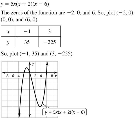 Big Ideas Math Answers Algebra 1 Chapter 8 Graphing Quadratic Functions 8.5 a 61