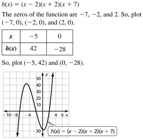 Big Ideas Math Answers Algebra 1 Chapter 8 Graphing Quadratic Functions 8.5 a 63