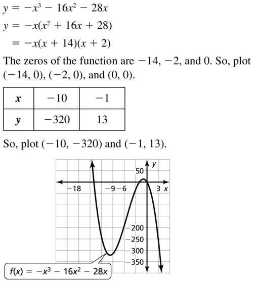 Big Ideas Math Answers Algebra 1 Chapter 8 Graphing Quadratic Functions 8.5 a 67