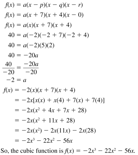 Big Ideas Math Answers Algebra 1 Chapter 8 Graphing Quadratic Functions 8.5 a 71