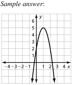 Big Ideas Math Answers Algebra 1 Chapter 8 Graphing Quadratic Functions 8.5 a 83