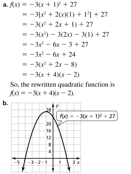 Big Ideas Math Answers Algebra 1 Chapter 8 Graphing Quadratic Functions 8.5 a 93.1