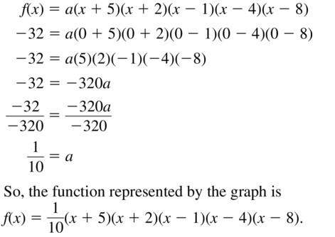 Big Ideas Math Answers Algebra 1 Chapter 8 Graphing Quadratic Functions 8.5 a 97