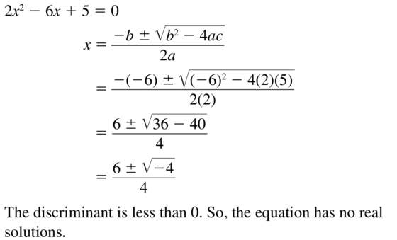 Big Ideas Math Answers Algebra 1 Chapter 9 Solving Quadratic Equations 9.5 a 13