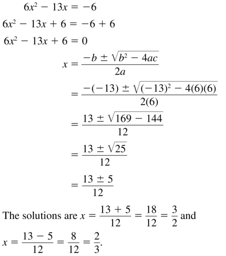 Big Ideas Math Answers Algebra 1 Chapter 9 Solving Quadratic Equations 9.5 a 15