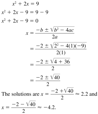 Big Ideas Math Answers Algebra 1 Chapter 9 Solving Quadratic Equations 9.5 a 19
