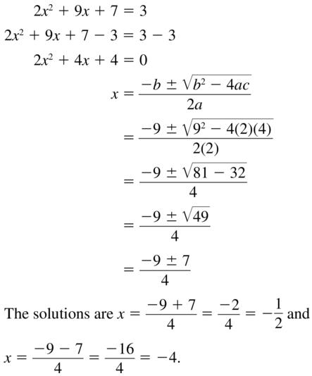 Big Ideas Math Answers Algebra 1 Chapter 9 Solving Quadratic Equations 9.5 a 21