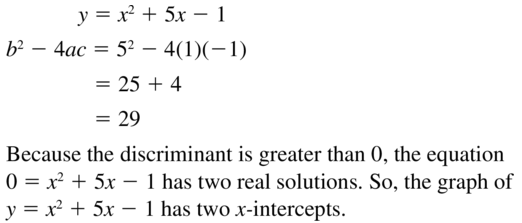 Big Ideas Math Answers Algebra 1 Chapter 9 Solving Quadratic Equations 9.5 a 31