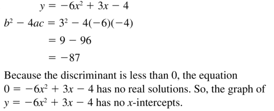 Big Ideas Math Answers Algebra 1 Chapter 9 Solving Quadratic Equations 9.5 a 33