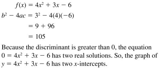 Big Ideas Math Answers Algebra 1 Chapter 9 Solving Quadratic Equations 9.5 a 35