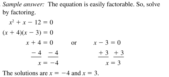 Big Ideas Math Answers Algebra 1 Chapter 9 Solving Quadratic Equations 9.5 a 41
