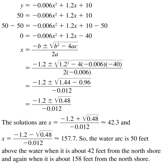 Big Ideas Math Answers Algebra 1 Chapter 9 Solving Quadratic Equations 9.5 a 47