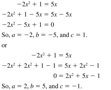Big Ideas Math Answers Algebra 1 Chapter 9 Solving Quadratic Equations 9.5 a 5