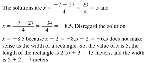 Big Ideas Math Answers Algebra 1 Chapter 9 Solving Quadratic Equations 9.5 a 51.2