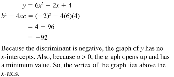 Big Ideas Math Answers Algebra 1 Chapter 9 Solving Quadratic Equations 9.5 a 65