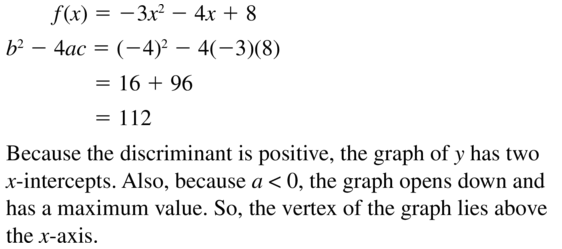 Big Ideas Math Answers Algebra 1 Chapter 9 Solving Quadratic Equations 9.5 a 67