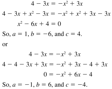 Big Ideas Math Answers Algebra 1 Chapter 9 Solving Quadratic Equations 9.5 a 7