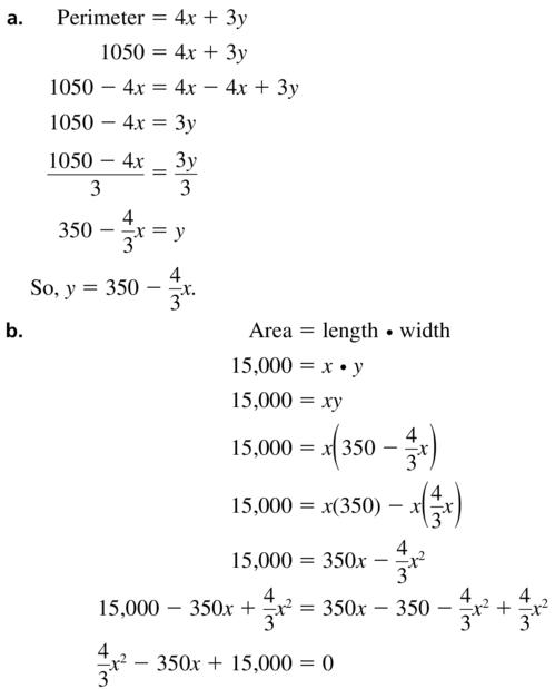 Big Ideas Math Answers Algebra 1 Chapter 9 Solving Quadratic Equations 9.5 a 71.1