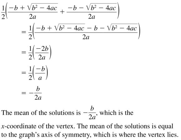 Big Ideas Math Answers Algebra 1 Chapter 9 Solving Quadratic Equations 9.5 a 73