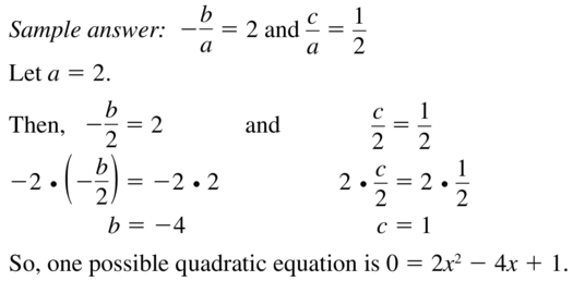 Big Ideas Math Answers Algebra 1 Chapter 9 Solving Quadratic Equations 9.5 a 77.2