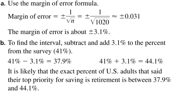 Big Ideas Math Answers Algebra 2 Chapter 11 Data Analysis and Statistics 11.5 a 17