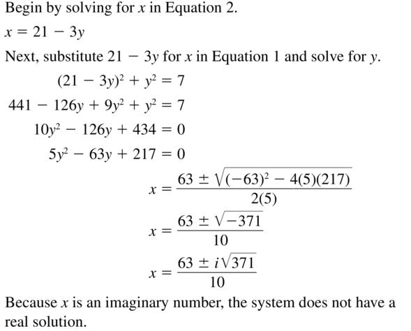 Big Ideas Math Answers Algebra 2 Chapter 3 Quadratic Equations and Complex Numbers 3.5 a 23