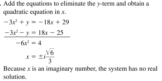 Big Ideas Math Answers Algebra 2 Chapter 3 Quadratic Equations and Complex Numbers 3.5 a 29